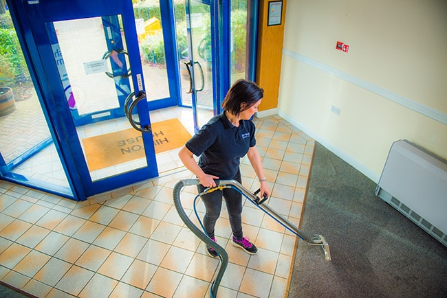 Commercial Carpet Cleaner Alloa carpet cleaner at work