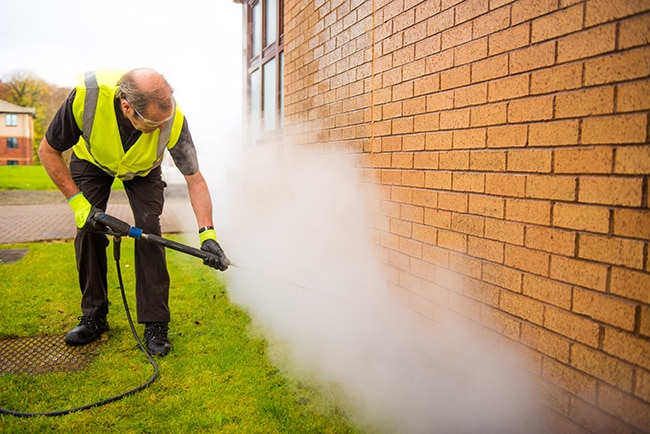 pressure washer offering cleaning services Alloa